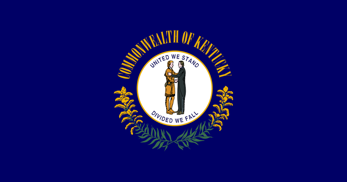 Kentucky State Flag Wall Art - Down Home Products
