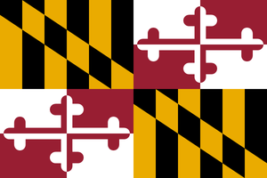 Maryland State Flag Wall Art - Down Home Products