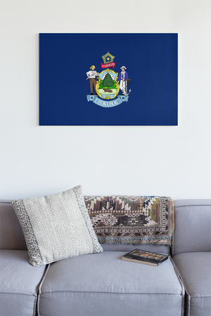 Maine State Flag Wall Art - Down Home Products