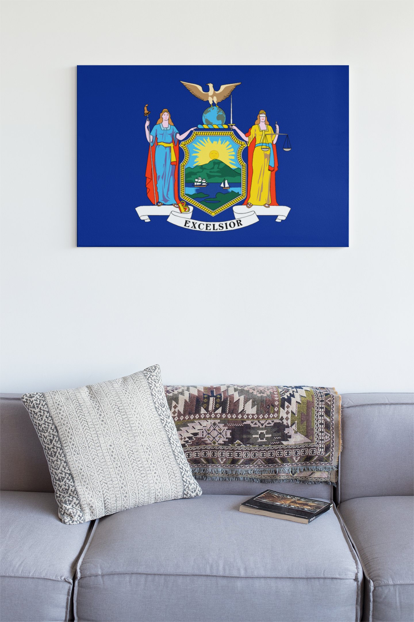 New York State Flag Wall Art - Down Home Products