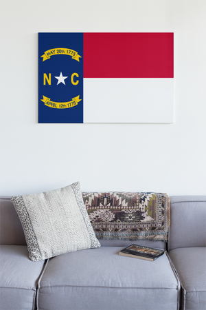 North Carolina State Flag Wall Art - Down Home Products
