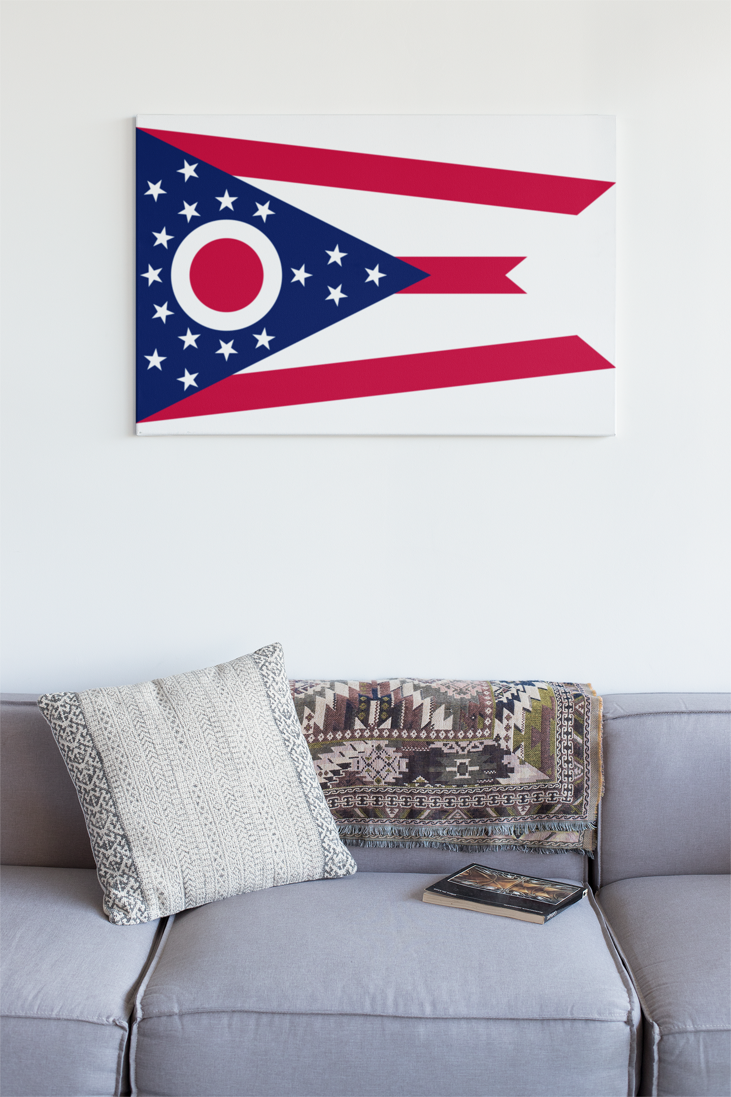 Ohio State Flag Wall Art - Down Home Products