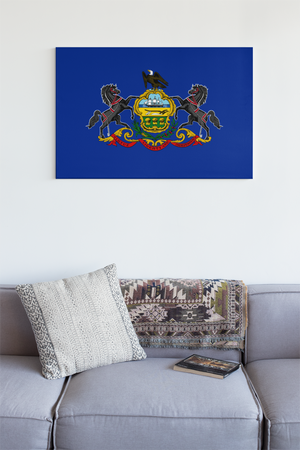Pennsylvania State Flag Wall Art - Down Home Products