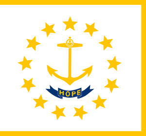 Rhode Island State Flag Wall Art - Down Home Products