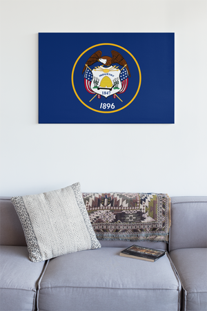 Utah State Flag Wall Art - Down Home Products
