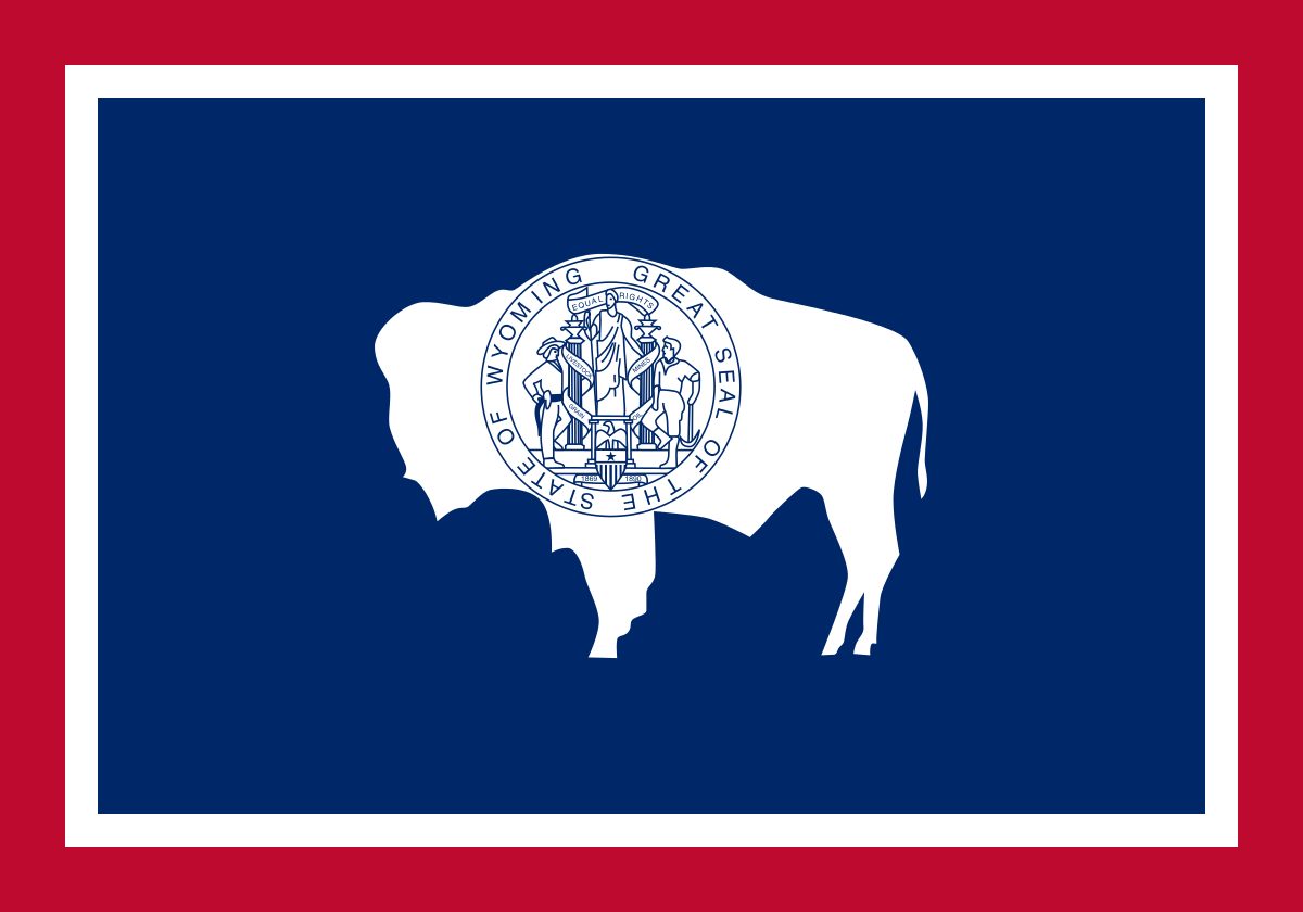 Wyoming State Flag Wall Art - Down Home Products