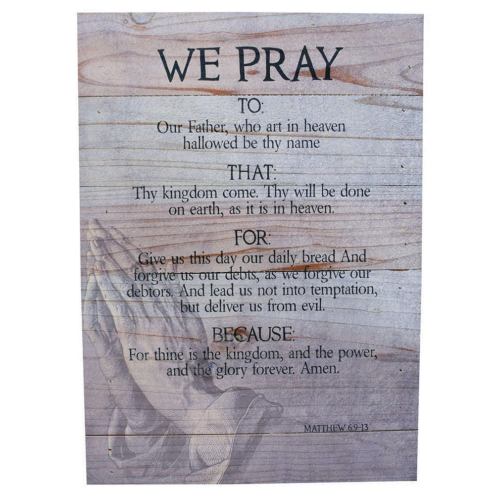 "Wall Art ""We Pray"" - Down Home Products"