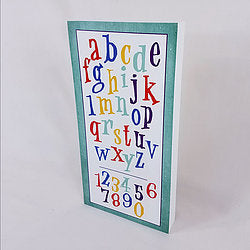 ABC Wall Art on Wood Canvas - Down Home Products