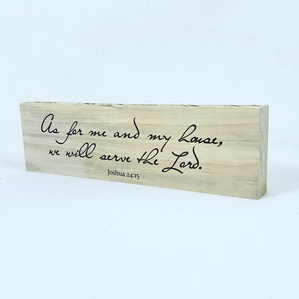 "Shelf Decor ""As For Me and My House"" on Wood - Down Home Products"