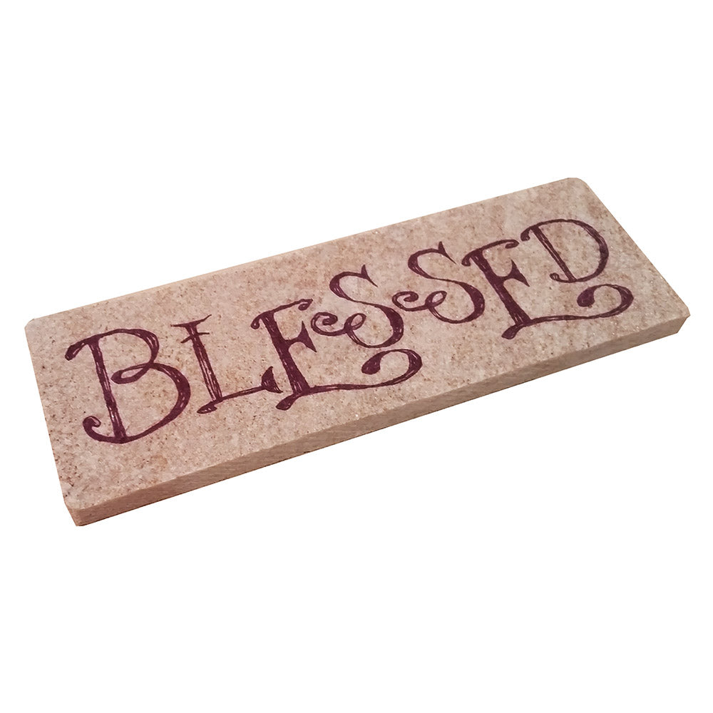 "Shelf Decor - ""Blessed"" - Down Home Products"