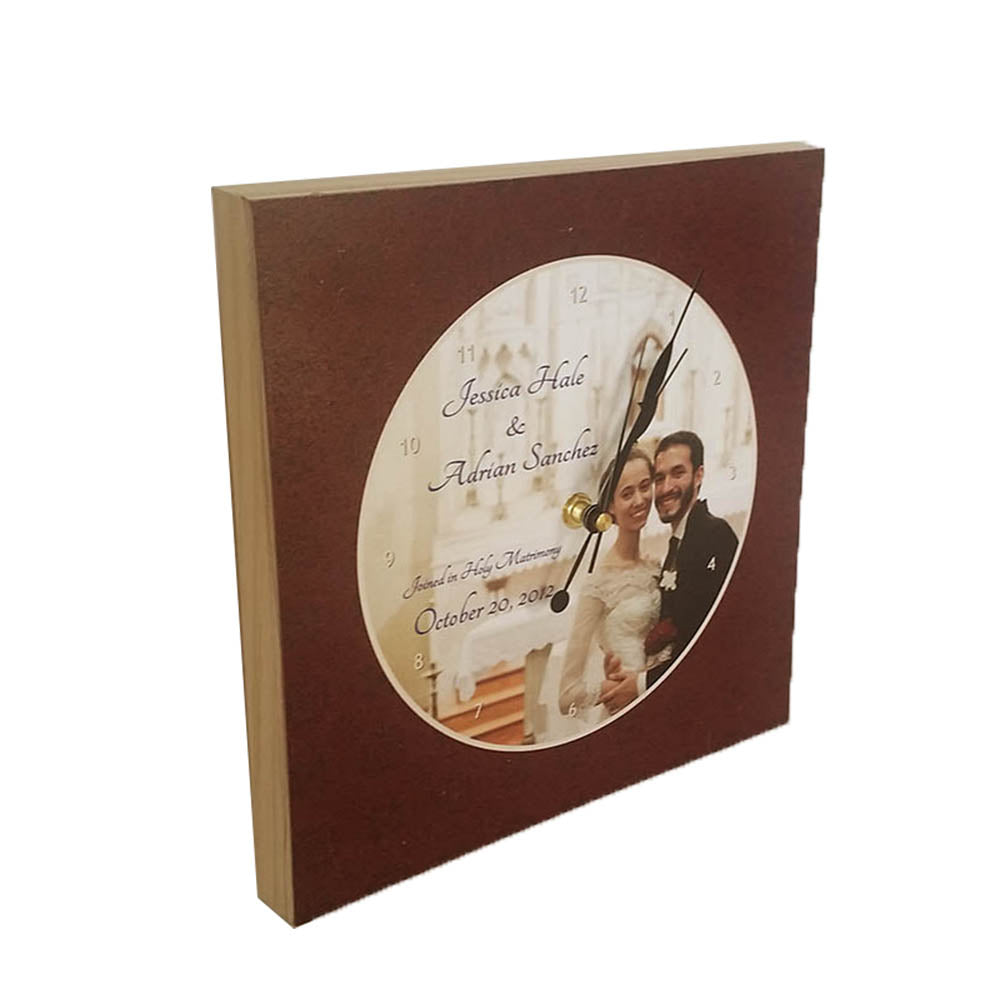 Wedding Picture Clock - Down Home Products