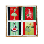 Holiday Vintage Lady Coaster Set - Down Home Products