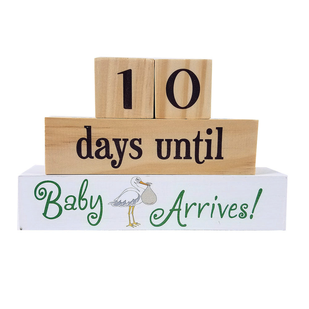 Days Until Baby Arrives Block Set - Down Home Products