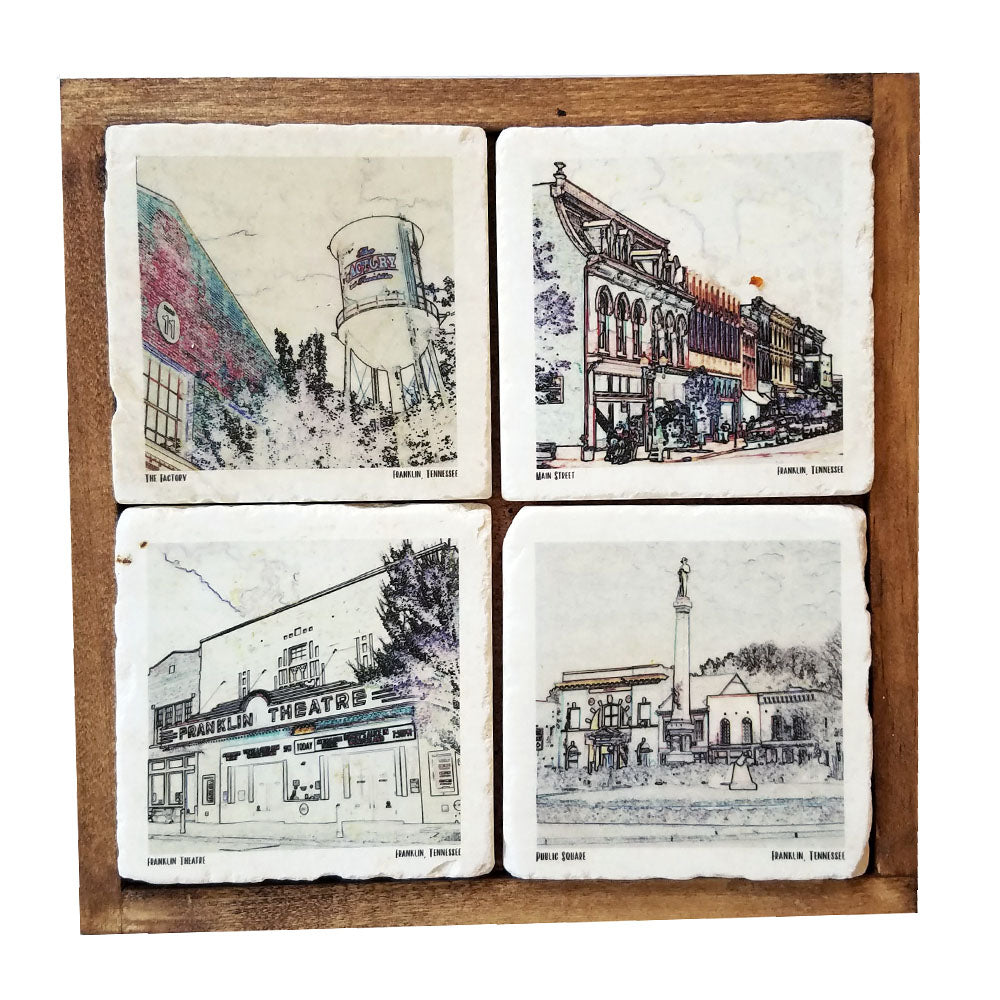 Historic Franklin, TN Coaster Set - Down Home Products
