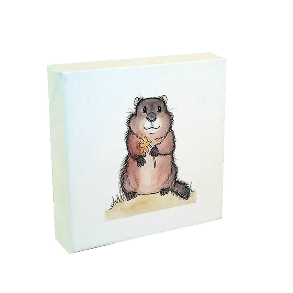 Ground Hog Water color - Down Home Products