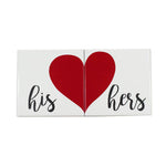 His and Hers Heart-Mate Coaster Set - Down Home Products