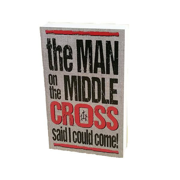 "Wall Art ""The Man on the Middle Cross"" on Wood - Down Home Products"
