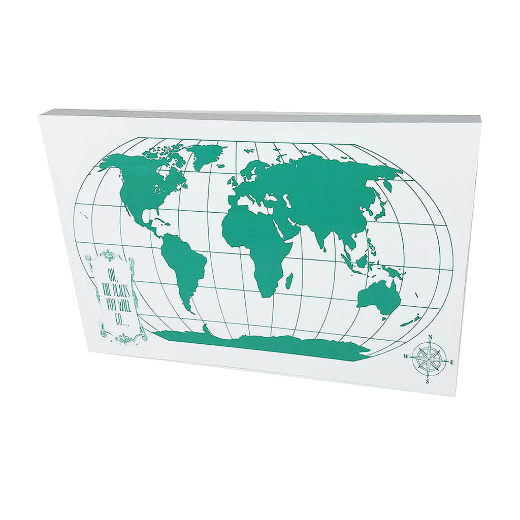 World Globe in Teal - Down Home Products