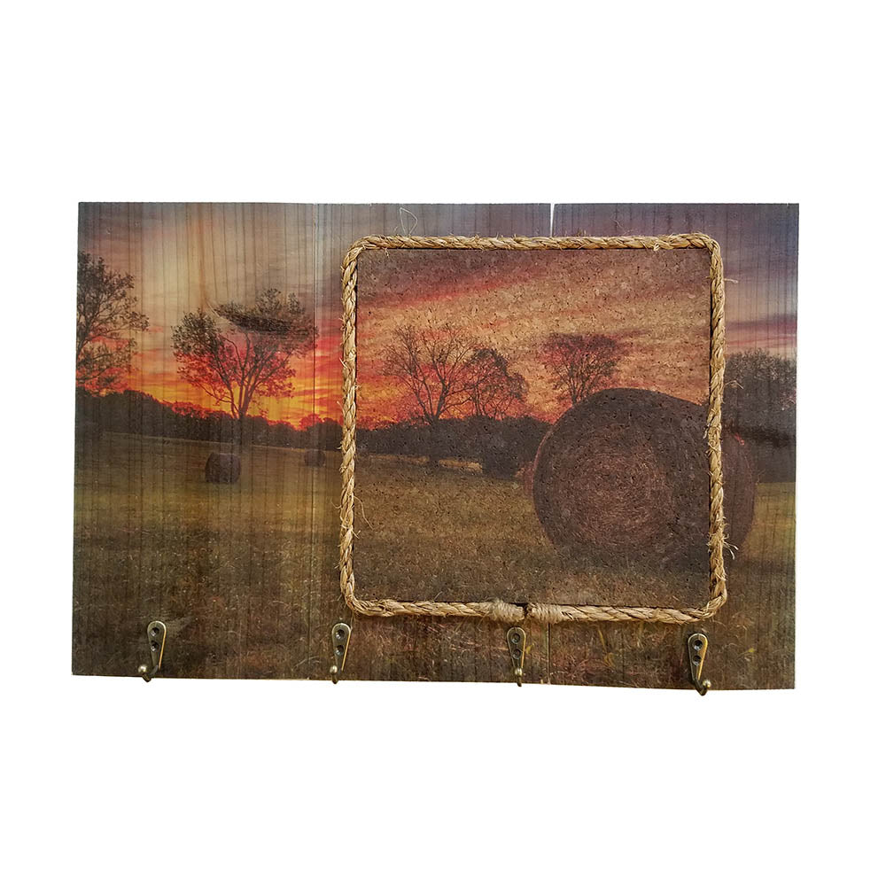 Message Board With Golden Hayfield - Down Home Products