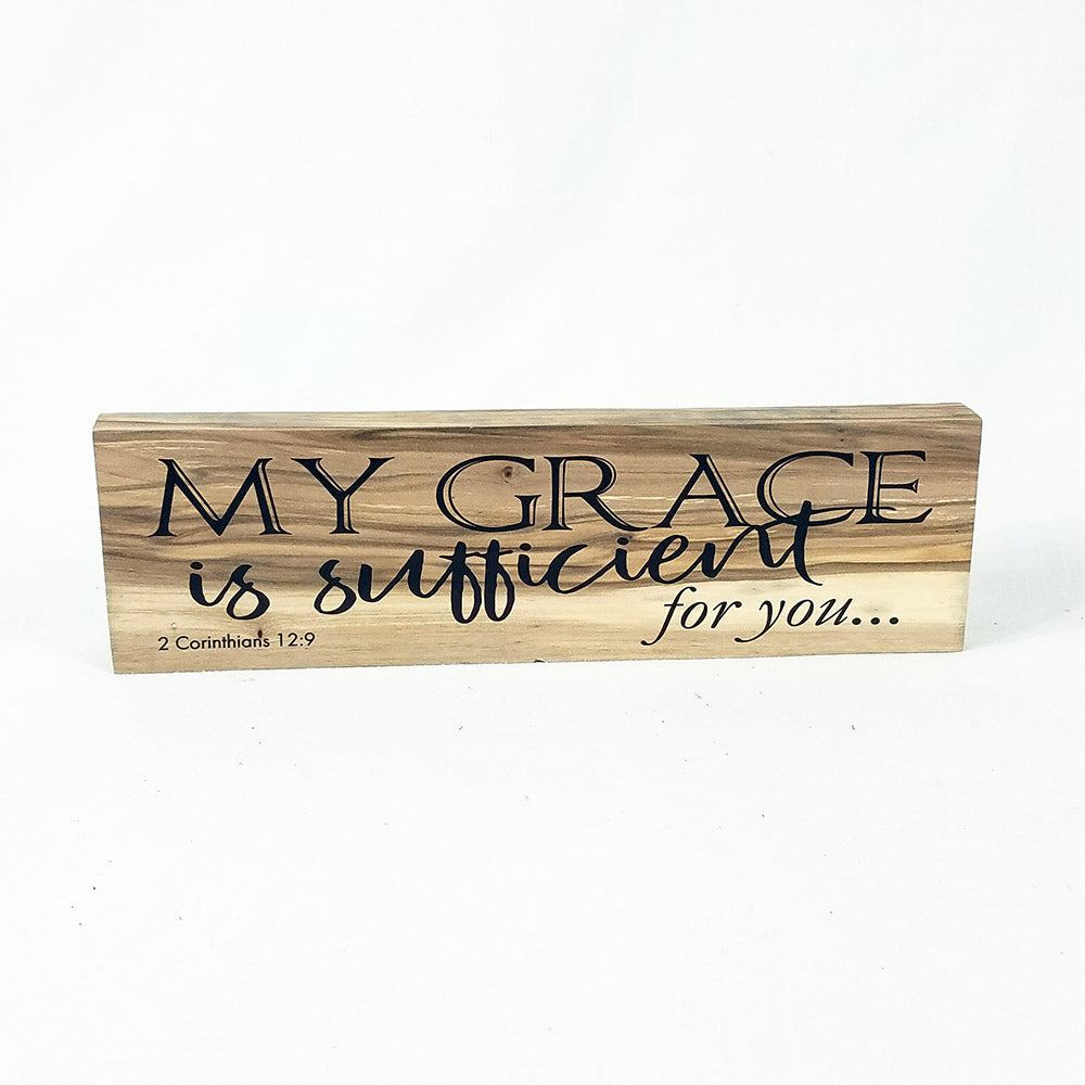 "Shelf Decor ""My Grace"" on Wood - Down Home Products"