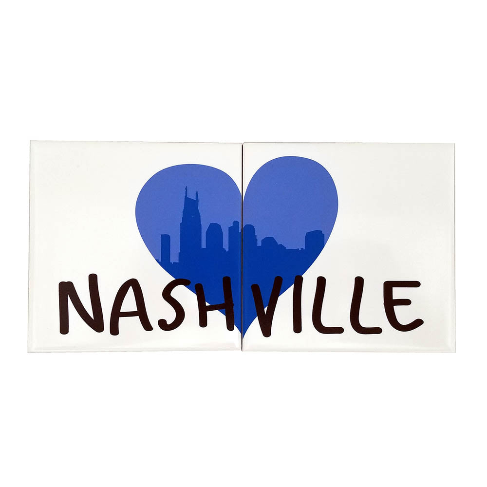 Nashville City Heart Porcelain Coaster Set - Down Home Products