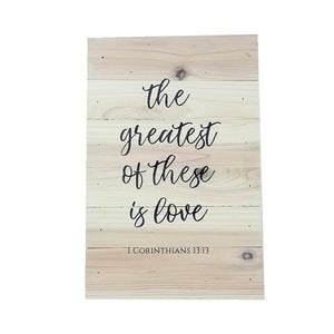 "Wall Art - ""The Greatest of These is Love"" - Down Home Products"
