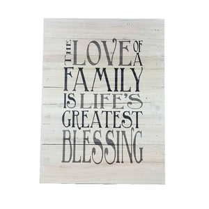 "Wall Art - ""The Love of a Family"" - Down Home Products"