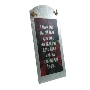 "Wall Art - ""I Love You For All"" on Metal - Down Home Products"
