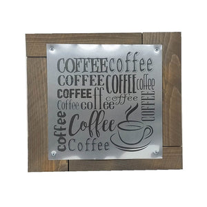 Wall Art - Coffee  on Metal and Wood - Down Home Products