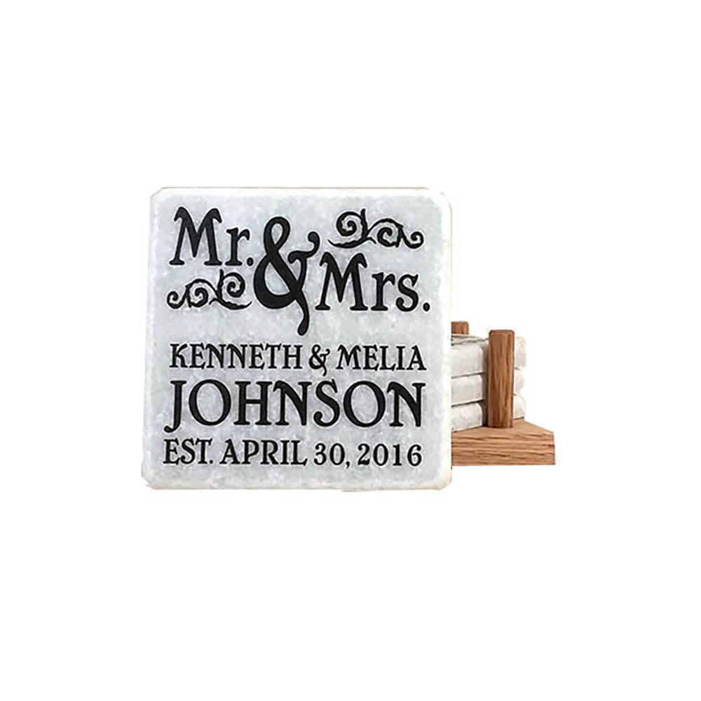 Wedding Coaster Set - Down Home Products