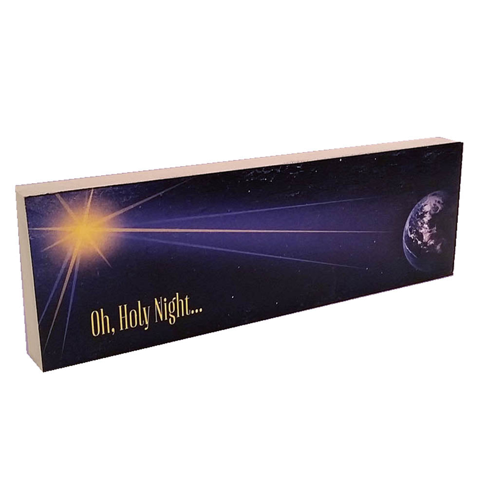 "Christmas Shelf Decor - ""Oh Holy Night"" - Down Home Products"