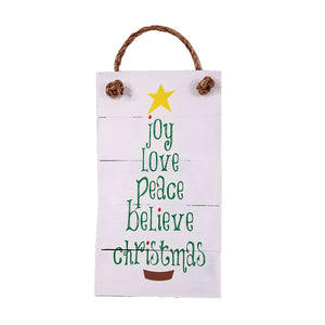 Christmas Wall Art - Joy, Love, Peace, Believe - Down Home Products