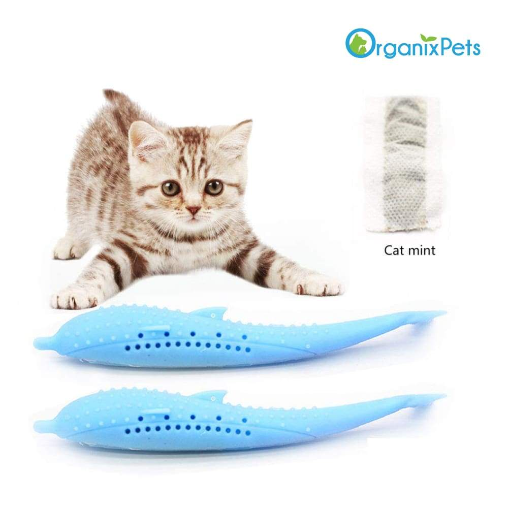 Cat Self-Cleaning Toothbrush - With Catnip INSIDE