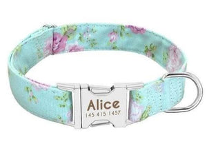 Adjustable Custom Engraved Dog Collar