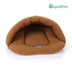 Cozy Dog Cave Bed - Brown / L