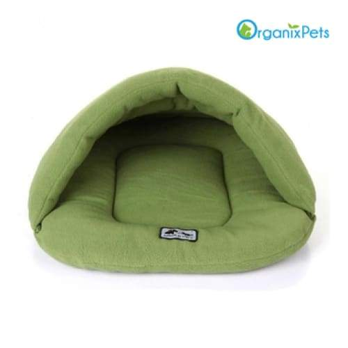 Cozy Dog Cave Bed - Green / L