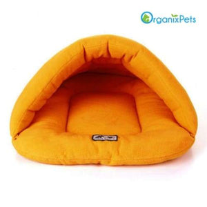 Cozy Dog Cave Bed - Orange / L