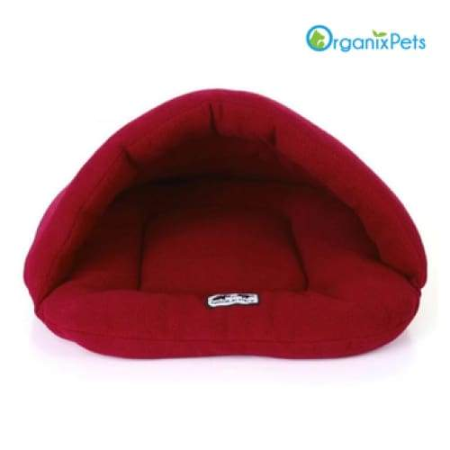 Cozy Dog Cave Bed - Red / L