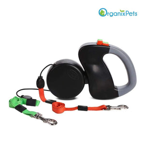 Dog Leash for Two - Black