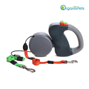Dog Leash for Two - Grey