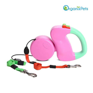 Dog Leash for Two - Pink