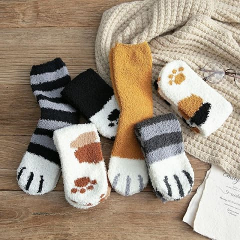 OrganixPets Winter Cat Claws Socks