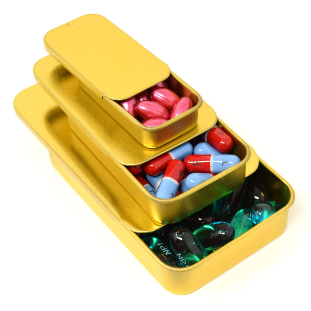 Slide Top Pill Tins