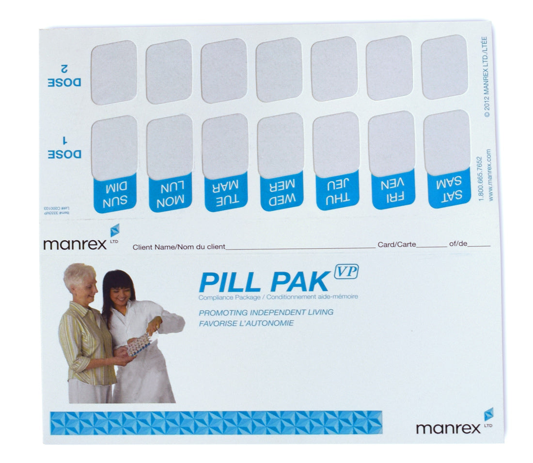 Weekly Twice a Day Blister Pill Packs - Pill Pak VP 2-Dose Kit
