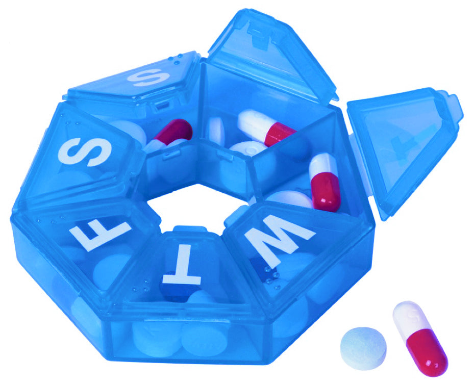 Seven-Sided Pill Organizer Small