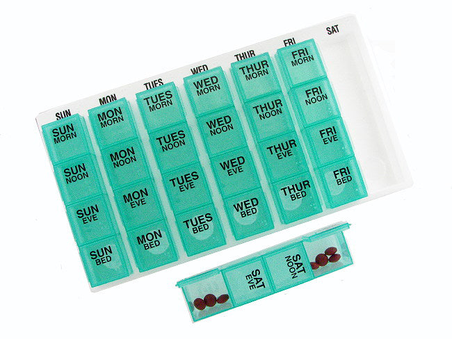 Weekly Pill Organizer with Tray Medium