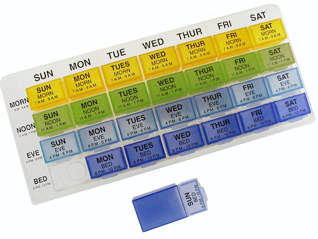 Weekly Dose Removable Pill Organizer