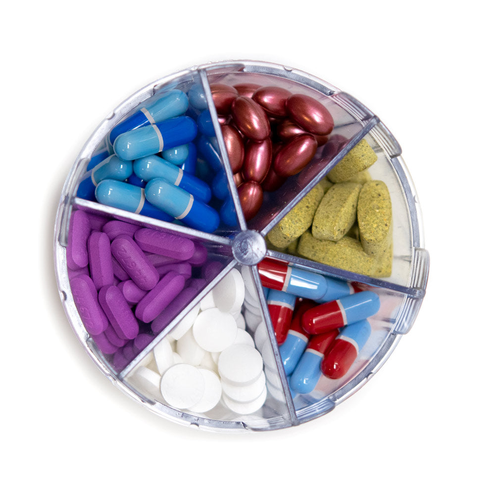 Monster Jr Pill Dispenser with Compartment Labels