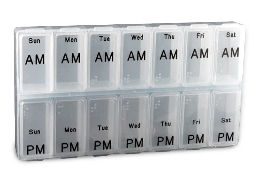 Jumbo Weekly AM/PM Pill Box