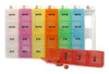 Extra Large Color-Coded Weekly Med Planner, 4-Compartment